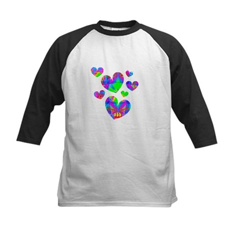 Kaleidoscope Hearts Kids Baseball Jersey