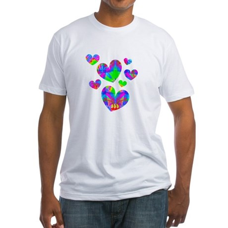 Kaleidoscope Hearts Fitted T-Shirt
