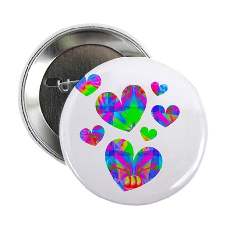 "Kaleidoscope Hearts 2.25"" Button"