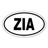 ZIA Oval Decal