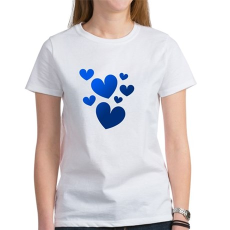 Blue Valentine Hearts Women's T-Shirt