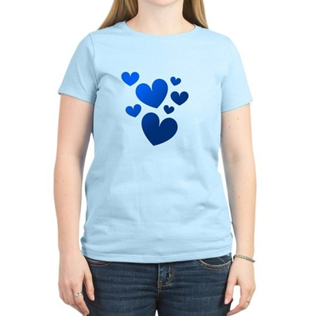 Blue Valentine Hearts Women's Light T-Shirt