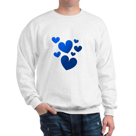 Blue Valentine Hearts Sweatshirt