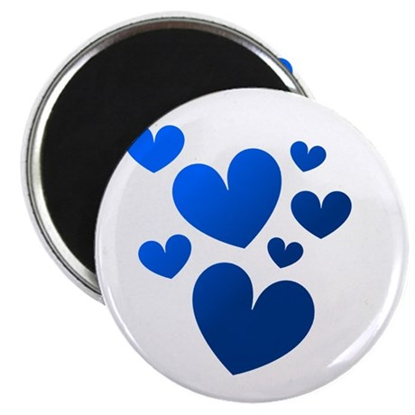 "Blue Valentine Hearts 2.25"" Magnet (10 pack)"