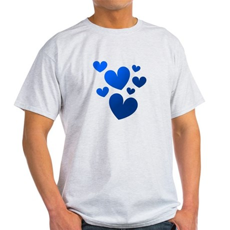 Blue Valentine Hearts Light T-Shirt