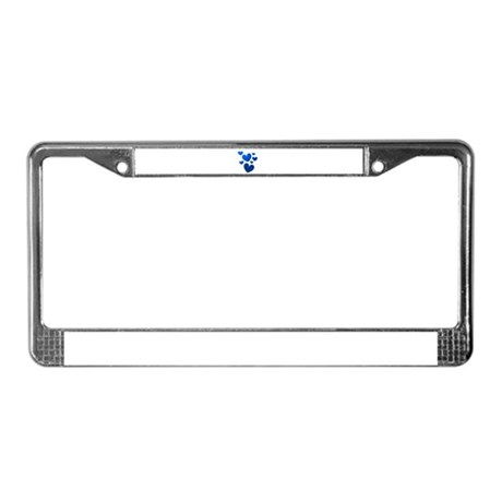 Blue Valentine Hearts License Plate Frame