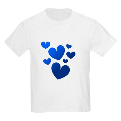 Blue Valentine Hearts Kids Light T-Shirt