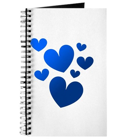 Blue Valentine Hearts Journal
