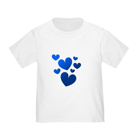 Blue Valentine Hearts Toddler T-Shirt