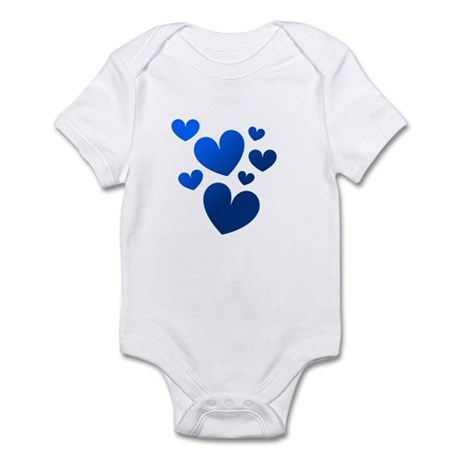 Blue Valentine Hearts Infant Bodysuit