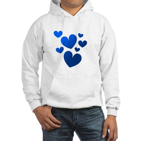 Blue Valentine Hearts Hooded Sweatshirt