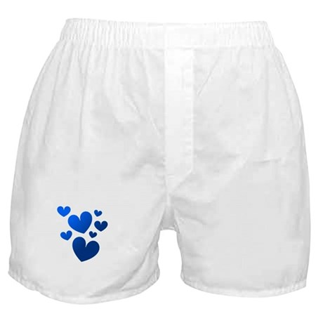 Blue Valentine Hearts Boxer Shorts