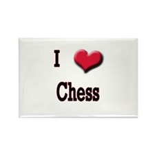 I Love (Heart) Chess Rectangle Magnet
