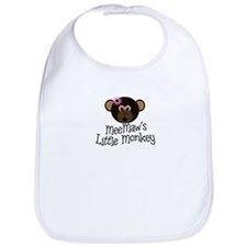 MeeMaw's Little Monkey GIRL Bib