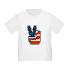USA PEACE SIGN T