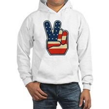 USA PEACE SIGN Hooded Sweatshirt