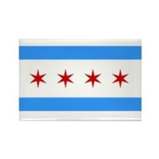 City of Chicago Flag Fridge Magnet