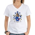 Campen Family Crest Women's V-Neck T-Shirt