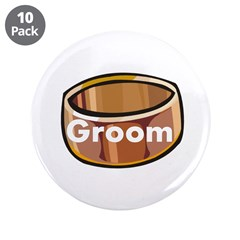 "Groom Ring 3.5"" Button (10 pack)"