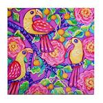 Tropical Birds Tile Coaster