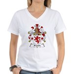 Brandis Family Crest Women's V-Neck T-Shirt