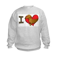 I heart dachshunds Sweatshirt