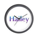 Glitter Name Hailey Wall Clock