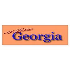I Love Georgia - Bumper Bumper Sticker