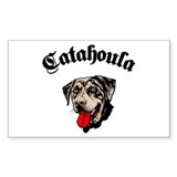 Catahoula Leopard Dog Rectangle Decal