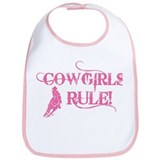 Cowgirls Rule Bib