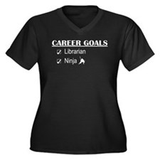 Librarian Career Goals Women's Plus Size V-Neck Da