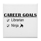 Librarian Career Goals Tile Coaster