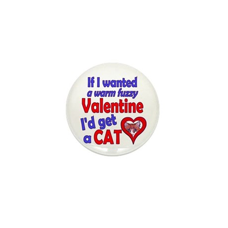Cat Funny Anti-Valentine Mini Button