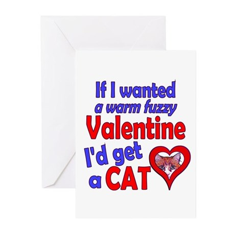 Cat Funny Anti-Valentine Greeting Cards (Pk of 10)