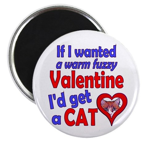 "Cat Funny Anti-Valentine 2.25"" Magnet (10 pack)"