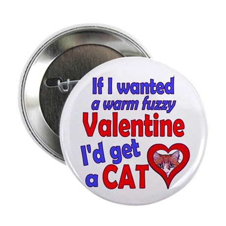 "Cat Funny Anti-Valentine 2.25"" Button (10 pack)"