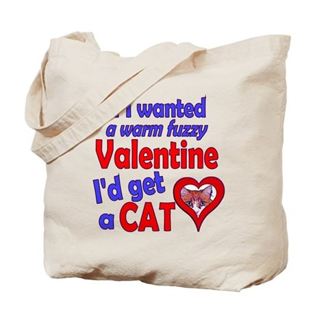 Cat Funny Anti-Valentine Tote Bag