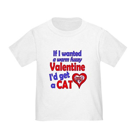 Cat Funny Anti-Valentine Toddler T-Shirt