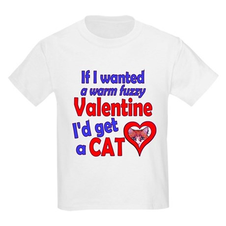 Cat Funny Anti-Valentine Kids Light T-Shirt
