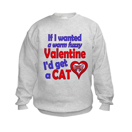 Cat Funny Anti-Valentine Kids Sweatshirt