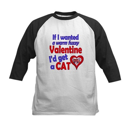 Cat Funny Anti-Valentine Kids Baseball Jersey