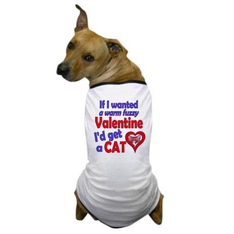 Cat Funny Anti-Valentine Dog T-Shirt