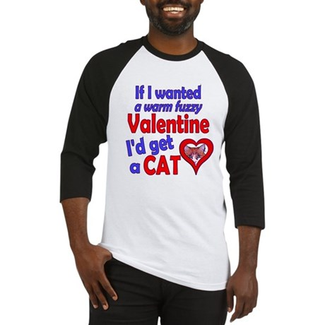 Cat Funny Anti-Valentine Baseball Jersey