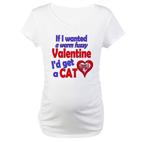 Cat Funny Anti-Valentine Maternity T-Shirt