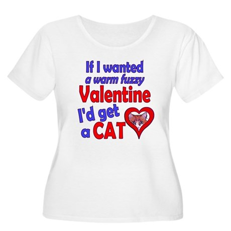 Cat Funny Anti-Valentine Women's Plus Size Scoop N