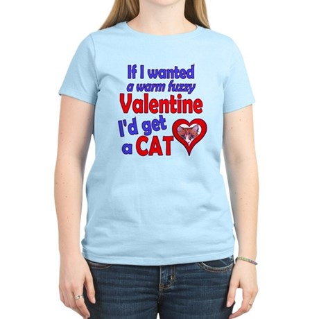 Cat Funny Anti-Valentine Women's Light T-Shirt