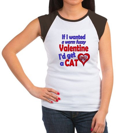 Cat Funny Anti-Valentine Women's Cap Sleeve T-Shir