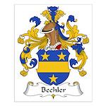 Bechler Family Crest Small Poster