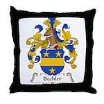 Bechler Family Crest Throw Pillow