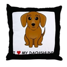 Smooth Dachshund Throw Pillow